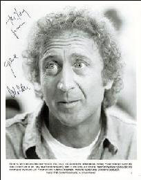 GENE WILDER - INSCRIBED PRINTED PHOTOGRAPH SIGNED IN INK