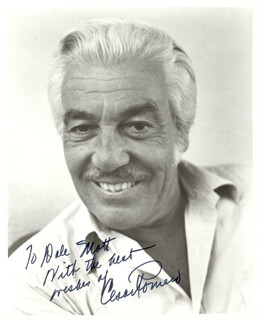 CESAR ROMERO - AUTOGRAPHED INSCRIBED PHOTOGRAPH