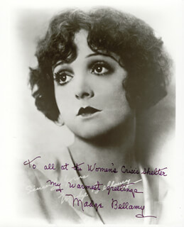 MADGE BELLAMY - AUTOGRAPHED INSCRIBED PHOTOGRAPH