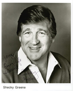 Autographs: SHECKY GREENE - INSCRIBED PHOTOGRAPH SIGNED