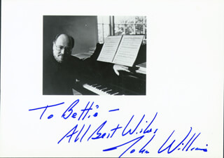 JOHN WILLIAMS - AUTOGRAPHED INSCRIBED PHOTOGRAPH