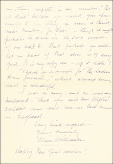 ALICE MURIEL WILLIAMSON - AUTOGRAPH LETTER SIGNED 1/1
