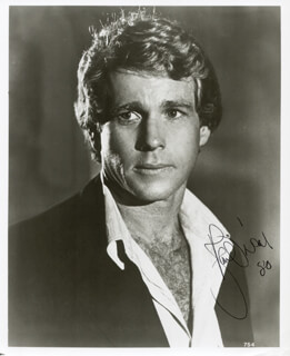 RYAN O'NEAL - AUTOGRAPHED SIGNED PHOTOGRAPH 1980