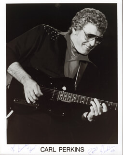 CARL LEE PERKINS - AUTOGRAPHED INSCRIBED PHOTOGRAPH 1988