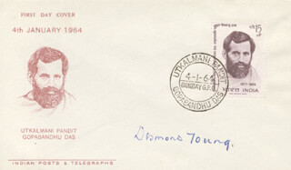 GENERAL DESMOND YOUNG - FIRST DAY COVER SIGNED