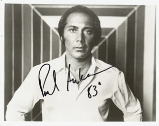 Autographs: PAUL ANKA - PHOTOGRAPH SIGNED 1983