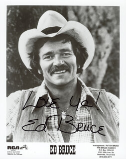 ED BRUCE - AUTOGRAPHED SIGNED PHOTOGRAPH