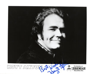 Autographs: HOYT AXTON - PRINTED PHOTOGRAPH SIGNED IN INK