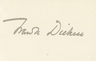 SIR FRANCIS B. DICKSEE - AUTOGRAPH