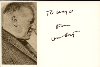 HOWARD DIETZ - AUTOGRAPH NOTE SIGNED