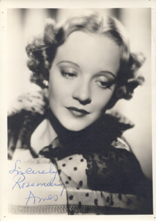 ROSEMARY AMES - AUTOGRAPHED SIGNED PHOTOGRAPH