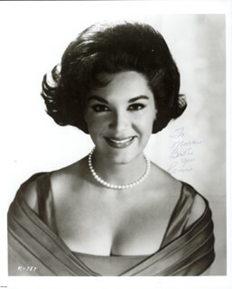 CONNIE FRANCIS - AUTOGRAPHED INSCRIBED PHOTOGRAPH