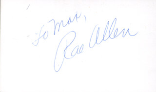 RAE ALLEN - INSCRIBED SIGNATURE