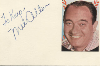 MEL ALLEN - INSCRIBED SIGNATURE