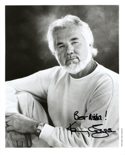 KENNY ROGERS - AUTOGRAPHED SIGNED PHOTOGRAPH