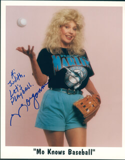 MORGANNA - INSCRIBED PRINTED PHOTOGRAPH SIGNED IN INK
