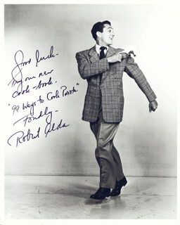 ROBERT ALDA - AUTOGRAPHED SIGNED PHOTOGRAPH