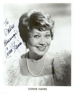 CONNIE HAINES - AUTOGRAPHED INSCRIBED PHOTOGRAPH