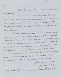PRESIDENT JAMES BUCHANAN - AUTOGRAPH LETTER SIGNED 11/23/1852