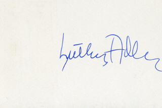 Autographs: LUTHER ADLER - SIGNATURE(S)