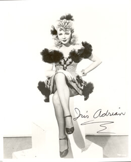Autographs: IRIS ADRIAN - PHOTOGRAPH SIGNED