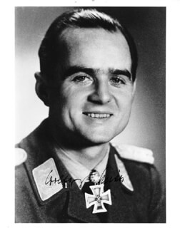 MAJOR WOLFGANG SPATE - AUTOGRAPHED SIGNED PHOTOGRAPH