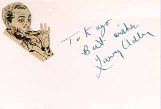 LARRY ADLER - AUTOGRAPH NOTE SIGNED