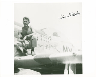 Autographs: MAJOR JAMES L. JIM BROOKS - PHOTOGRAPH SIGNED