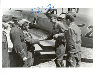 LT. GENERAL GUNTHER RALL - AUTOGRAPHED SIGNED PHOTOGRAPH