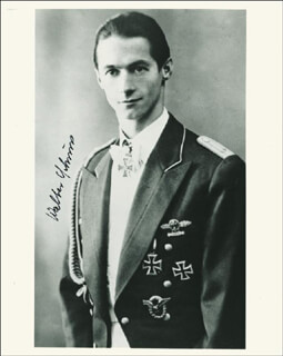 WALTER SCHUCK - AUTOGRAPHED SIGNED PHOTOGRAPH