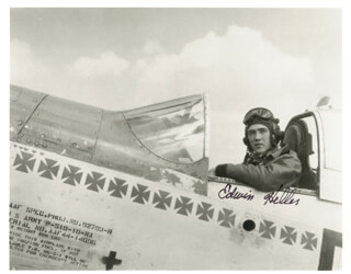 LT. COL. EDWIN LEWIS ED HELLER - AUTOGRAPHED SIGNED PHOTOGRAPH