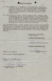 JACKIE THE GREAT ONE GLEASON - DOCUMENT SIGNED 07/17/1962