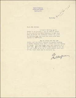 GEORGE S. KAUFMAN - TYPED LETTER SIGNED CIRCA 1938