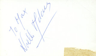 NOELLE ADAM - INSCRIBED SIGNATURE
