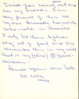 MAE MARSH - AUTOGRAPH LETTER SIGNED