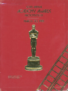 Autographs: ACADEMY AWARDS - PROGRAM UNSIGNED 03/30/1981