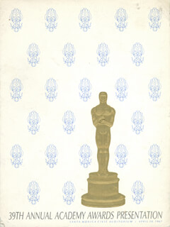 Autographs: ACADEMY AWARDS - PROGRAM UNSIGNED