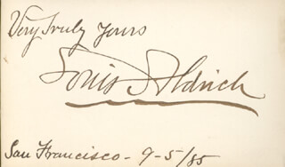 LOUIS ALDRICH - AUTOGRAPH SENTIMENT SIGNED 09/05/1885