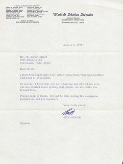 Autographs: WILLIAM E. BILL BROCK III - TYPED LETTER SIGNED 08/04/1972