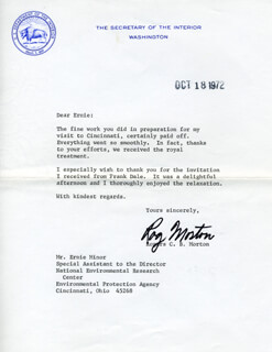 Autographs: ROGERS C.B. MORTON - TYPED LETTER SIGNED 10/18/1972