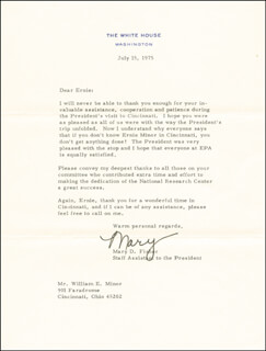 MARY D. FISHER - TYPED LETTER SIGNED 07/15/1975