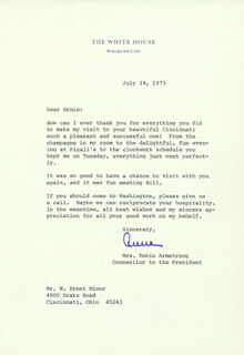 Autographs: ANNE ARMSTRONG - TYPED LETTER SIGNED 07/24/1973
