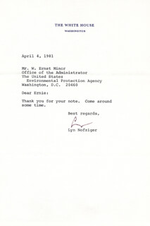 LYN NOFZIGER - TYPED LETTER SIGNED 04/04/1981