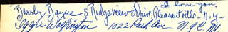 Autographs: BEVERLY BAYNE - CLIPPED SIGNATURE CO-SIGNED BY: IGGIE WOLFINGTON