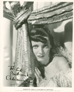 ADRIENNE AMES - AUTOGRAPHED SIGNED PHOTOGRAPH