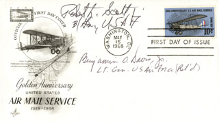 GENERAL BENJAMIN O. DAVIS JR. - FIRST DAY COVER SIGNED CO-SIGNED BY: BRIGADIER GENERAL ROBERT L. SCOTT JR.