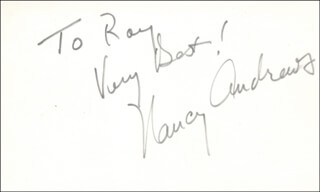 NANCY ANDREWS - AUTOGRAPH NOTE SIGNED
