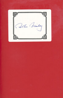 ARTHUR HAILEY - BOOK SIGNED CIRCA 1990