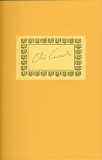 CLIVE CUSSLER - BOOK PLATE SIGNED CIRCA 1996