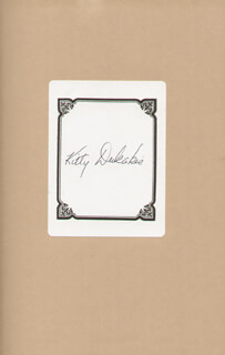 KITTY DUKAKIS - BOOK PLATE SIGNED